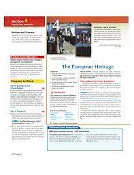 the european heritage hastworldhistory9thgrade