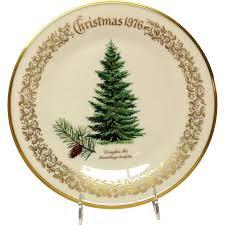lenox tree douglas fir commemorative plate 1976