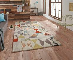 Modern Designer Rugs Fiona Howard Designer Rug Wool Blend Large Modern Retro Pattern