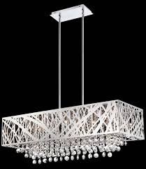 beautiful rectangular crystal chandelier dining room with light