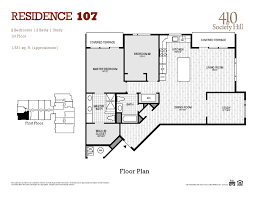 Sample Of Floor Plan Toll Brothers Lays It All Out For You At 410 S Front St