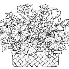 flower basket coloring pages floral coloring pages flowers in