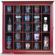 pint glass display cabinet shot glass display case ebay