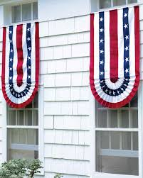 American Flag With Yellow Fringe 4th Of July Decorations Show Your Red White And Blue Martha
