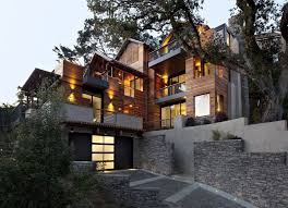 hillside house plans for sloping lots modern hillside house plans design small california for