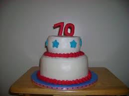 red white u0026 blue 70th birthday cake cakecentral com
