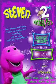 barney friends birthday invitations invitation