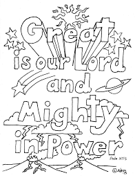 coloring pages kids adron lord psalm 147