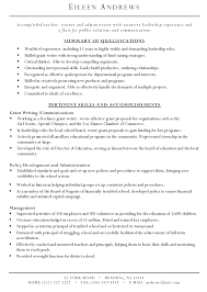 summary and qualifications resume grant writer resume grant writer resume sample grant writer resume