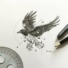 más de 25 bellas ideas sobre tatuajes de cuervo en pinterest