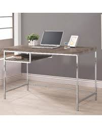 wood and metal writing desk great deals on tanis grey wood chrome writing desk tanis writing desk