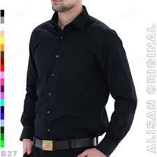 Baju Original kemeja alisan original b1 11 baju kerja pria hitam elevenia