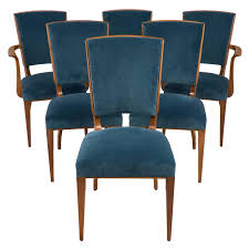 Dining Room Sets In Ct French Art Deco Set Of Cherrywood Dining Room Chairs At 1stdibs