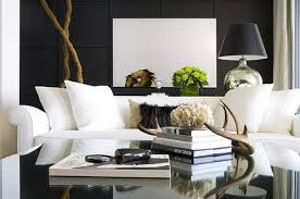 Wall Mounted Living Room Furniture Black And White Living Room With Accent Color Luxury Furniture