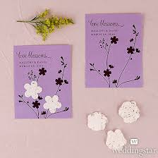 seed paper favors seed paper blossoms personalized garden wedding favor card
