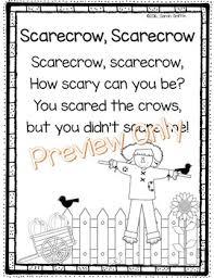 scarecrow poem scarecrows poem and teaching ideas