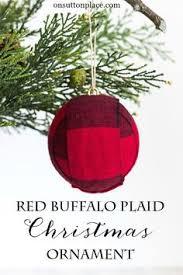 diy buffalo plaid ornament plaid