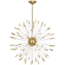 robert abbey andromeda acrylic rods chandelier acrylic rod and