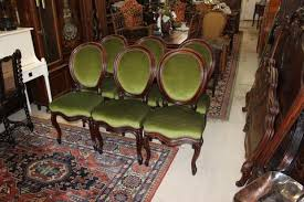 Victorian Upholstered Chair Exquisite Set Of 6 English Antique Mahogany Victorian Upholstered