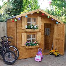 7x5 wooden playhouse with base departments diy at b u0026q