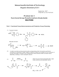 functional group transformations study guide exercises solution