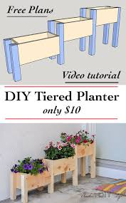 Diy Patio Planter Box Easy Diy Tiered Planter For 10 Planter Box Plans Tiered
