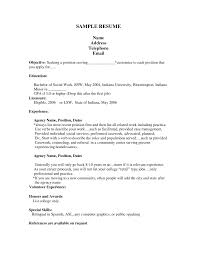 sample resume for first job free resumes tips how to do a exa