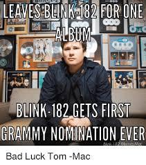 Blink 182 Meme - blink 182 gets first grammy nomination ever blink 182 memes mac bad
