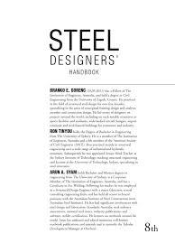 steel designers handbook bending structural load