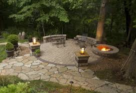 Concrete Fire Pit Exploding by Home Design Outdoor Patio Ideas With Firepit Cottage Laundry