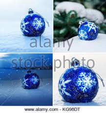 white snowflake ornaments in blue scalloped circles for