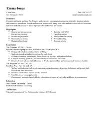 Resume Examples For Accounting by Best Tax Preparer Resume Example Livecareer