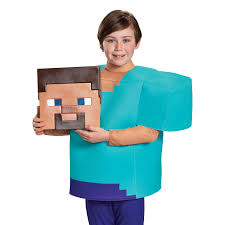 minecraft costume minecraft steve deluxe child costume buycostumes
