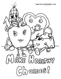 healthy food coloring pages preschool healthy food coloring pages coloring collection