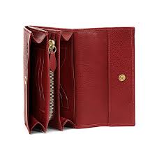 Cowhide Uses Woman U0027s Continental Wallet In Cowhide Leather C0992 Color Red