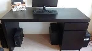 Ikea Hemnes Desk Grey Brown Desk Alang Floor Lamp Nickel Plated Gray Desks Ikeacomputer Ikea