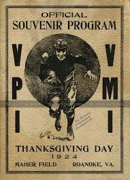 1924 11 27 virginia tech vs vmi an program from my