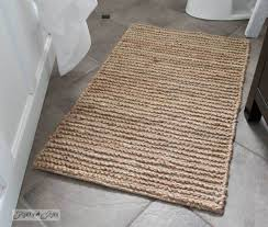 Jute Bath Mat Interesting Jute Bathroom Rug With Bathroom Rugs Trellis Bath