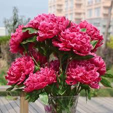 Fake Peonies Aliexpress Com Buy 2 Peony Flower Bunches Fake Peony 8 Head