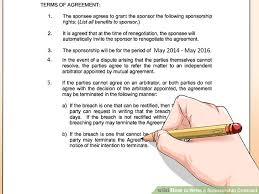 sponsorship agreementssponsorship agreement doc athlete