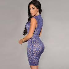 miami styles hot miami styles blue knee length out dress size 6 s tradesy