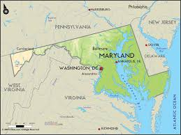 Ocean City Md Map Geographical Map Of Maryland And Maryland Geographical Maps