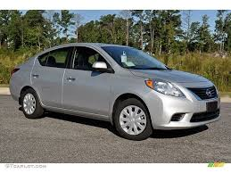nissan sedan 2012 brilliant silver metallic 2012 nissan versa 1 6 sv sedan exterior