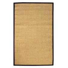 home decorators area rugs home decorators collection adirondack sisal black 4 ft x 6 ft