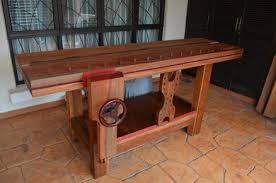 Woodworking Bench Top by Split Top Roubo Workbench Made Of Tropical Hardwood By