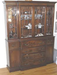 Antique Curio Cabinet With Desk Antique China Cabinet With Curved Glass Door
