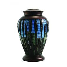 cremation urns urns mosaic wheat stained glass cremation urn optional tea light