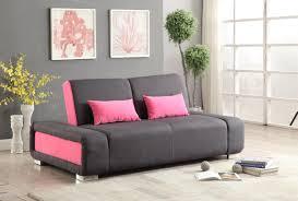 sofa bed pink modern adjustable futon sofa bed grey pink furniture