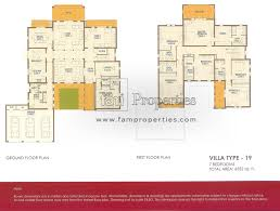 7 Bedroom Floor Plans Floor Plans Arabian Ranches Dubai Land By Emaar