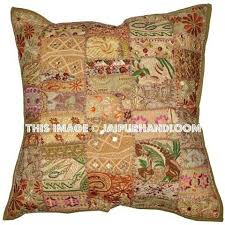 Accent Pillows For Sofa 24x24 Inch Vintage Patchwork Throw Pillows Patchwork Pillows Cushion